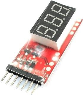 X-DREE LED Display 7.4V-22.2V 2S-6S Cells Lipo Battery Voltage Monitor Meter (6827be25-a222-11e9-8d7c-4cedfbbbda4e)