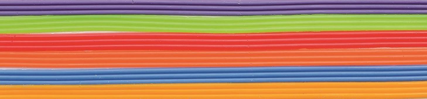 Glorex Wax Strips for Cabinet Disply/TV Back NA Rainbow 28?x 5.6?x 0.4?cm