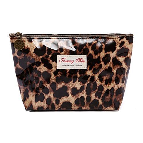 SimpleLife Leopard met ritssluiting voor make-up, cosmetica, stift, potloden, schrijfwaren, opbergtas, multifunctionele beschermhoes