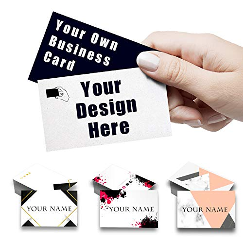 Custom Business Cards with Your Logo Personalized Business Cards Add Photo Text Print Your Own Business Cards On Front and Back Sides-100pcs-Without card case