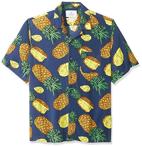 Marca Amazon - 28 Palms - Camisa vintage de rayón 100 % lavado y con corte holgado para hombre, diseño tropical...