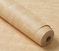 壁紙 はがせる リメ ステッカー カッティング PVC防水シンプルなリネンパターングレー壁紙-06_60cm * 5m