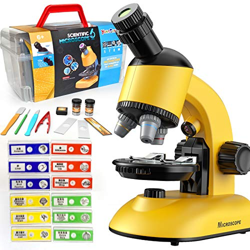 Microscope for Kids, Microscope Kit LED 40X-1200X Magnification Kids Science Toys, Microscope Slides with Specimens for Kids,Students Microscope STEM Kit