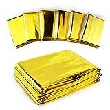 GPS G-6831 Emergency Foil Silver & Gold Mylar Thermal Blanket, 52' Length x 84' Width (Pack of 10)