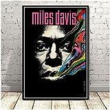 Refosian Miles Davis Blue Jazz Musikalbum Popstar Poster