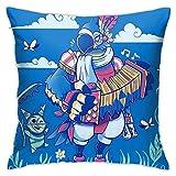 Genertic 4 Fundas de cojín de 45,7 x 45,7 cm, diseño de Mariposas, de Peluche, para decoración del hogar, sofá Cuadrado, Suave, 45 cm x 45 cm