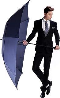 180cmゴルフ傘長い傘ようこそ釣り男性防風防水傘超高強度グラスファイバー暴風雨特大、男性用強力傘防風、ロング傘シャフトダブルキャノピー、71インチオーバーサイズ傘 東京オリンピックや学校の活動に適しています