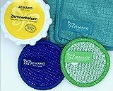 Jemako Küchenset: Zitronenbalsam 350gr,Profituch 40 x45 türkis, Duo-Pad Mini 9,5 cm blau+grün und DiWa Wäschenetz