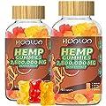 (2 Pack) Hemp Gummies, HOOLOO 2,800,000 high Potency Fruity Hemp Gummy Bears for Relaxing, Stress, Anxiety, Better Sleep & Calm Mood, Natural Hemp Extract Gummies, Made in USA