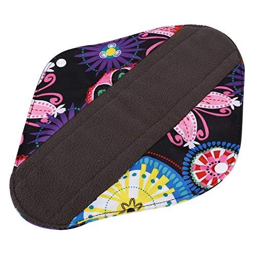 Ruiqas 1 stuk houtskool bamboedoek herbruikbare wasbare menstruatiepads mama sanitair panty handdoek 5 kleuren