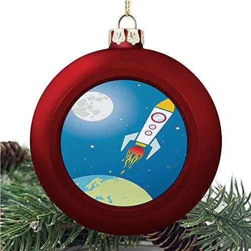 SUPNON Kids Rocket Galaxy   Christmas Ball Ornaments 2020 Christmas Pendant Personalized Creative Christmas Decorative Hanging Ornaments Christmas Tree Ornament №AM019404