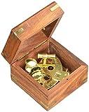 4' Astrolabe Sextant w/Wooden Box: Nautical Sextant
