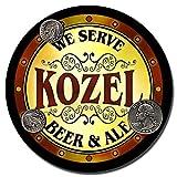 ZuWEE Kozel Beer & Ale Personalized Neoprene Rubber Drink Coasters