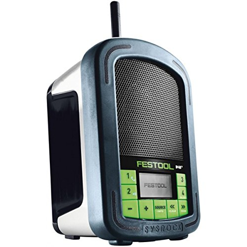 Festool BR 10 DAB Tragbares Radio, DAB+ / FM, 87,5-108 MHz, 10 W, LED-Display, mehrfarbig