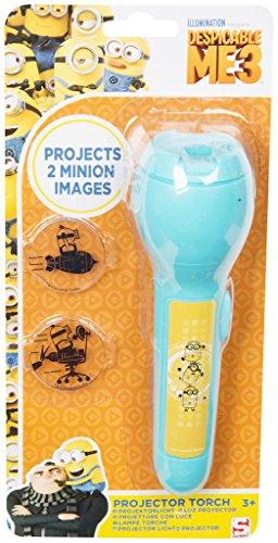 Proyector LED con licencia para niños, diseño de Patrulla Canina, Spiderman, Disney Dory luz nocturna regalo 3+ (Antorcha proyector de Gru, mi villano favorito 3)