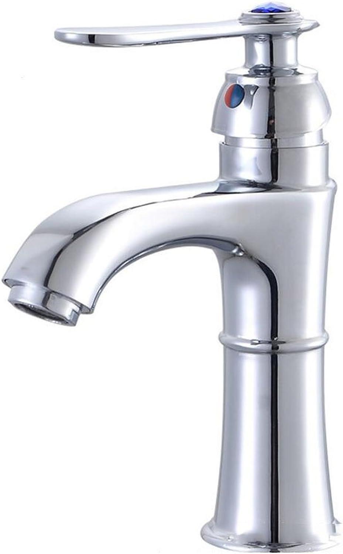 GLLGLT One Handle Bathroom Faucet Low Arc Lavatory Sink Fixture, Chrome