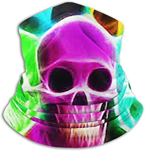 Cráneos de neón unisex Calentador de cuello de invierno Polainas Calentador Banda para el cabello Tubo para clima frío Mascarilla Bufanda de cuello térmico Cubierta de fiesta de protección UV al aire libre