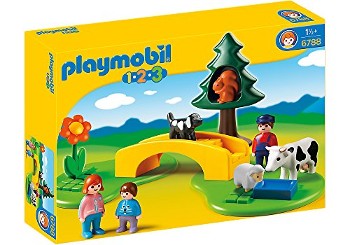 Playmobil 1.2.3 Pradera con Sendero - Kits de Figuras de Juguete para niños (1,5 año(s), Niño/niña,, 1 Pieza(s))