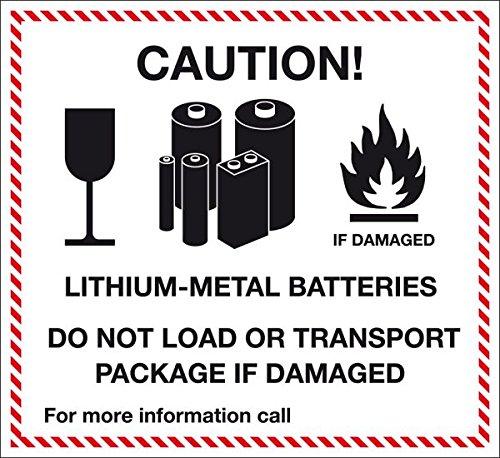 LEMAX® Verpackungskennzeichen Lithium-Metall Batteries, Folie, selbstklebend, 120x110mm