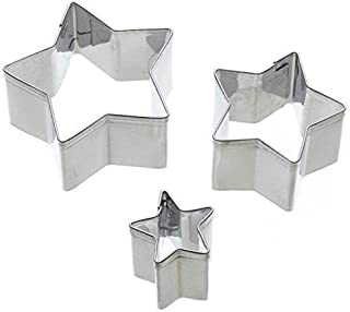 Sweetly Does It Mini Fondant Cutter, Stainless Steel, Stars, Set of 3, Blister Carded