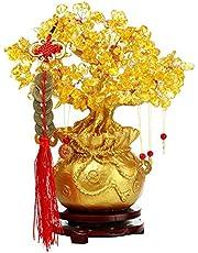 Feng Shui Quartz Edelsteen Geld Boom Crystal Geld Boom Lucky Tree Thuis Decoraties voor Home Office (Klein Formaat: 19cm)
