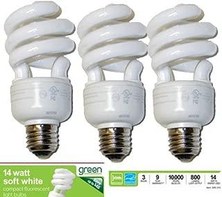 Office Depot Green Compact Fluorescent Light Bulbs, 14 Watts, Pack Of 3