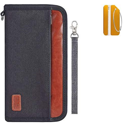 OrgaWise Portadocumentos Viajes con Bloqueo RFID para Pasaportes, Tarjetas de Identidad, Ttarjetas de Crédito, Boletos de Avión, Accesorios de Viaje, Impermeable y Duradero