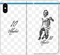【全機種対応】 サッカー iPhone Xperia Galaxy 楽天Mobile UQ Yモバ Android Android シルエット スマホケース 手帳型 カバー(落書き:マドリッド:10番_02) 01 iPhone5/5s/SE