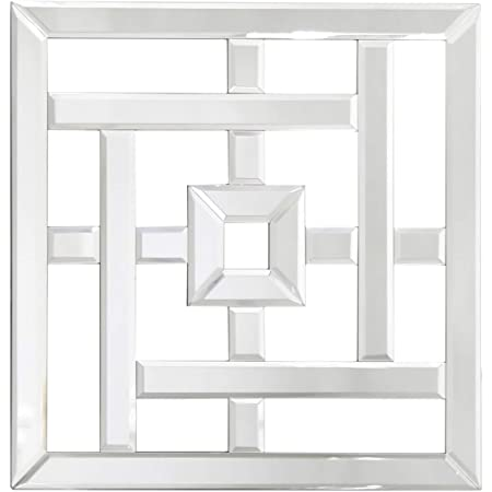 Maisonica Geometric Mirror Glass Wall Art Decoration Mirrored Geo Decor 40 Cm Square Amazon Co Uk Kitchen Home