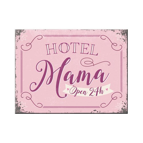 Nostalgic-Art 14358, Home und Country, Hotel Mama, Magnet 8x6 cm, Kraftmagnet mit Metalloberffläche, Bunt, 8 x 6 x 0.1 cm