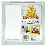 Mulia Tile & Glass 8' x 8' x 3' Nominal Clear Craft Glass Block
