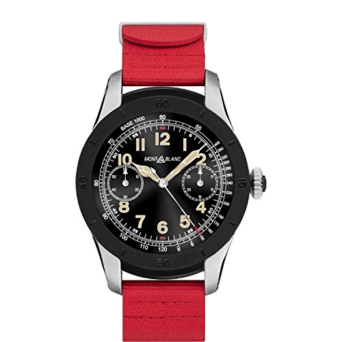 MontBlanc Summit Smartwatch Acciaio Nero caucciu Rosso 117541