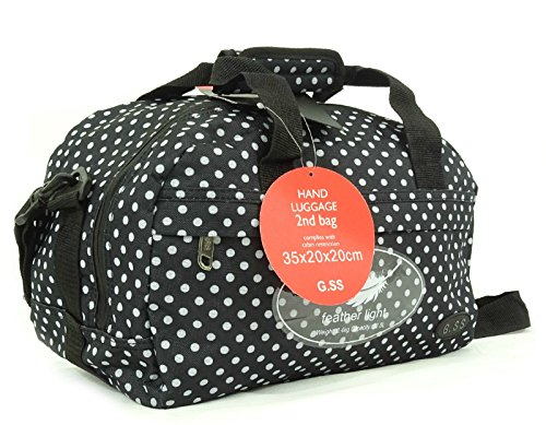 GSS , Trolley Nero Black Dots carry-on