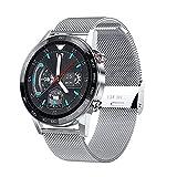 XYZK Nuevo L16 Smart Watch Hombres IP68 Impermeable Deportes Monitoreo Frecuencia Cardíaca Y Presión Arterial Medición Pronóstico del Tiempo Bluetooth Música Smartwatch (E)