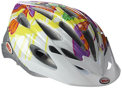 BELL Alibi - Casco Juvenil de Ciclismo Multicolor White/Orange Butterflies Flowers Talla:50-57...