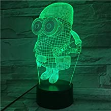3D Illusion Light Unique Led Night Lamp for Kids Despicable Me 2 Minions Night Light for Kids Bedroom Decorative 3D Led Ni...