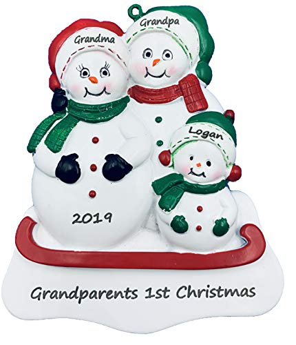 Personalized Grandparents 1st Christmas Ornament 2020 - Ships Free