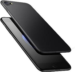 comprar comparacion Funda Carcasa iPhone 8 iPhone 7, POOPHUNS Fundas Carcasas Case Caso para iPhone 8 iPhone 7, Negro, Ultra-Delgado, Anti-Ras...