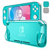 ZAROTO TPU Protective for Nintendo Switch Lite Case, Slim Soft Cover for Switch Lite case with Ergonomic Grips Shockproof Portable Anti-Scratch, 2Pack (Grey+Blue)