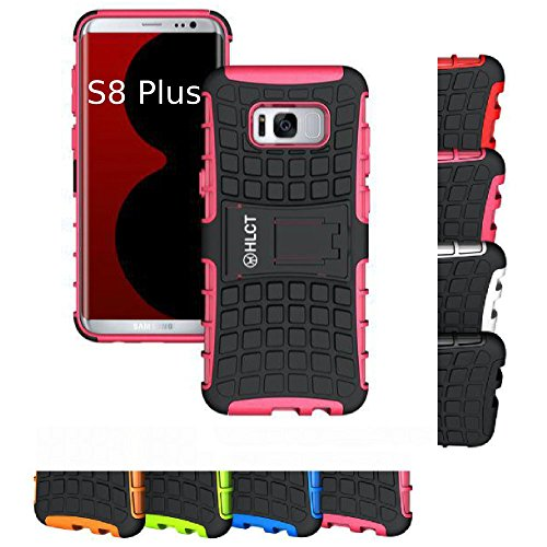 Price comparison product image Galaxy S8 Plus Stand Case,  HLCT Rugged Shock Proof Dual-Layer PC and Soft TPU Case with Built-in Stand Kickstand (Rose Pink)