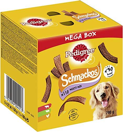 Pedigree Hundesnacks Hundeleckerli Schmackos Mixbox, 110 Stück - 790g