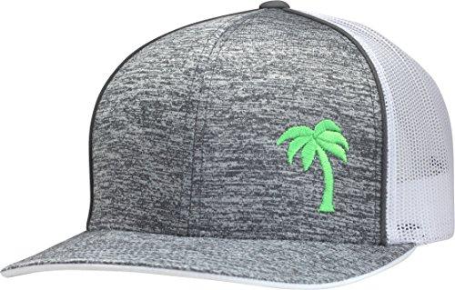 LINDO Trucker Hat - Palm Tree Series (Static Gray/Neon)