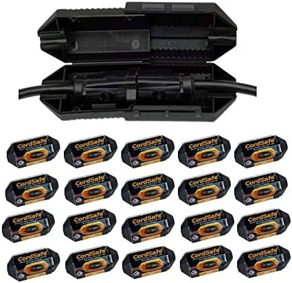 20 Pk Black CordSafe Electrical Extension Safety Japan Maker Austin Mall New Cord Protective