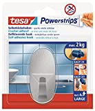 Tesa Powerstrips Haken (Large Metall oval) silber-matt