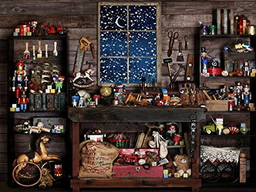 Fondo Fotografia Tienda de abarrotes de Noche Nevada 5x7FT(1.5mx2.1m)para Portrait Fotógrafos Estudio Foto Fondo Prop Video Televisión Photocall