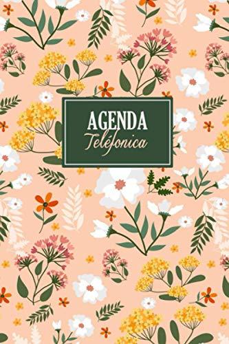 Agenda Telefónica: Libro para más de 400 contactos | Libreta de direcciones para almacenar direcciones, correos electrónicos, números de teléfono y cumpleaños | Diseño floral modern