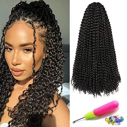 7Pack Passion Twist Hair 18 inch Water Wave Crochet Braids Hair Extension Long Bohemian Locs Hair, Spring Twist hair Braiding Hair