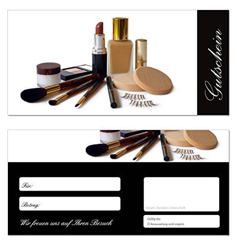 10 Stück Geschenkgutscheine (Kosmetik-652) - Beauty Gutscheinkarten Gutscheine für Bereiche...