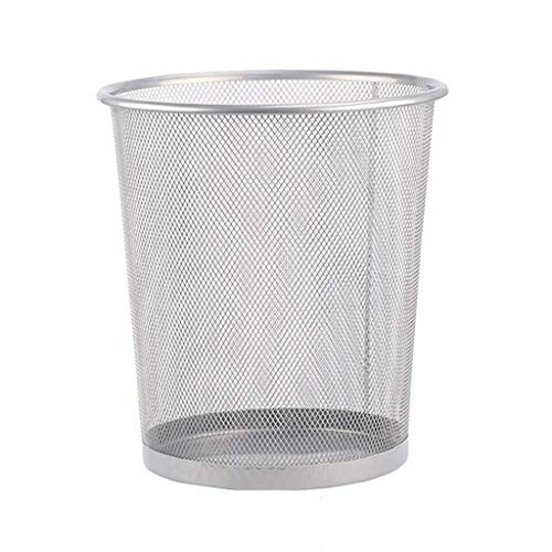 LYLSXY Waste Bin,Trash Can Household Barbed Wire/Thick and Durable Coverless Paper Bucket/Prevent Rust 12L,Sier