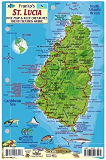 Laminated Map and Fish ID - St Lucia - Frankos Maps